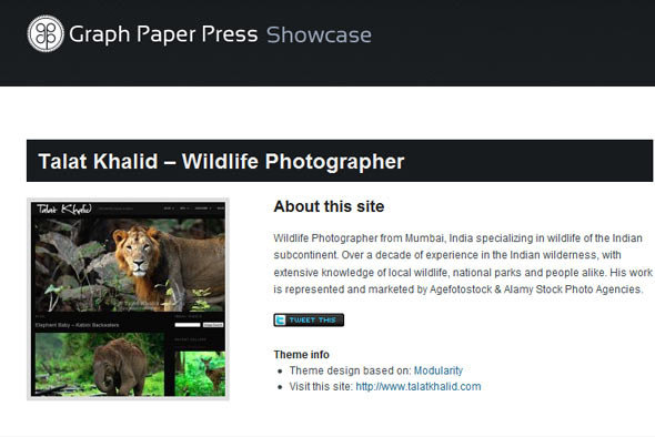Talat Khalid Wildlife Photographer Graph Paper Press
